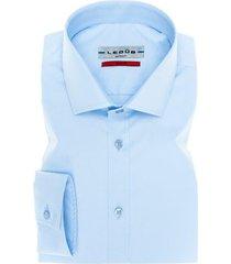 ledub overhemd slim fit stretch blauw