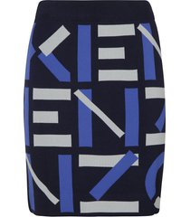 kenzo logo printed skirt