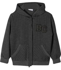brunello cucinelli gray hooded sweatshirt