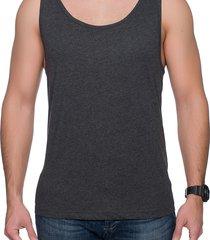 koszulka męski tank top (bez nadruku, gładka) - grafitowy