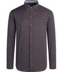 men's bugatchi classic fit dot performance button-up shirt, size xxx-large - black