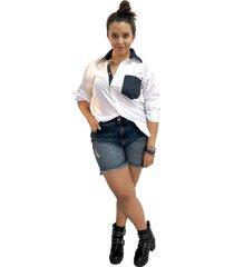 camisa blanca - denim nationplus