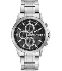 dress sport stainless steel chronograph bracelet watch