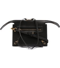 balenciaga neo classic clutch bag - black