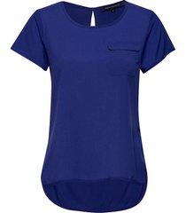 abena light round neck top t-shirts & tops short-sleeved blå french connection