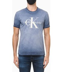 camiseta mc ckj masc calvin ideals - azul médio - pp