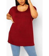 plus oversized t-shirt, berry