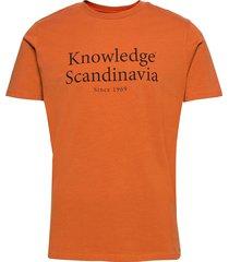 alder heavy tee kca scandinavia pri t-shirts short-sleeved orange knowledge cotton apparel