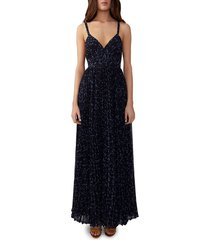 fame and partners women's floral-printed dress - floral blue - size 10