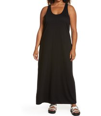 plus size women's treasure & bond racerback tank dress, size 3x - black