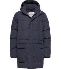 d2. the long alta down jacket gevoerd jack blauw gant