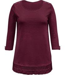 karen scott cotton lace-hem top, created for macy's