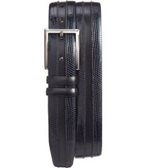 men's mezlan lizard leather belt, size 44 - black