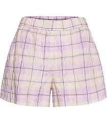 seersucker check shorts flowy shorts/casual shorts rosa ganni