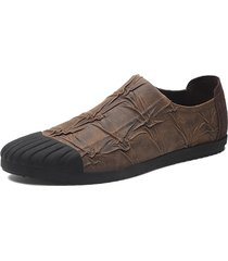 scarpe casual antiscivolo in pelle microfibra uomo
