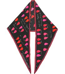 alexander mcqueen calligraphy print pointed scarf - black