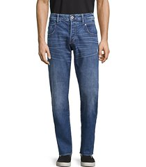 radar straight tapered button-fly jeans