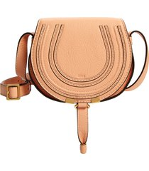 chloe mini marcie leather bag - pink