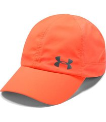 gorra running under armour fly by cap mujer naranja