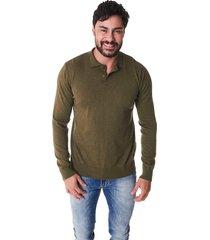 suéter convicto gola polo verde