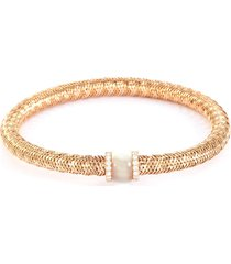 'primavera' diamond mother of pearl 18k rose gold bracelet