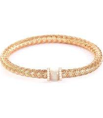 'primavera' diamond mother of pearl 18k rose gold bracelet