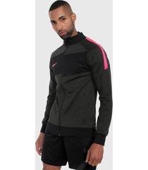 chaqueta negro-rosa nike academy