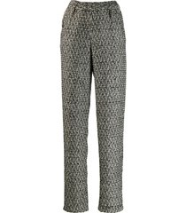 almaz straight tweed trousers - grey