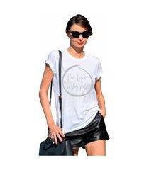 t-shirt feminina blusa estampada edius the future