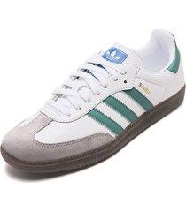 tenis lifestyle blanco-verde-gris-café adidas originals samba og