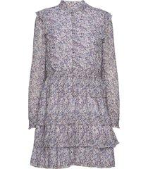 tiered shirt dress jurk knielengte paars michael kors