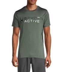 spyder men's logo graphic t-shirt - active mosis - size m
