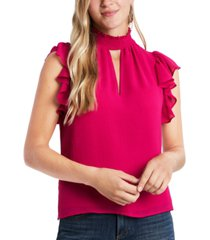 1.state smocked flutter-sleeve blouse