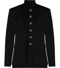 door militair geïnspireerde jas met knopen
