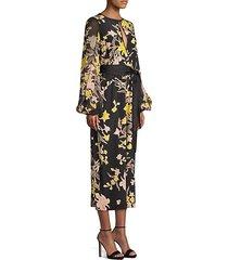 delphi silk floral tie front crop jumpsuit