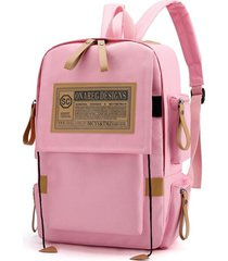 mochilas moda vintage oxford laptop backpack college school mochila mochila