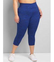 lane bryant women's livi high-rise wicking capri legging 34/36 blue