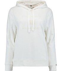 hoodie flock gebroken wit