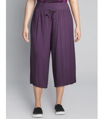 lane bryant women's livi active wide-leg capri 26/28 purple