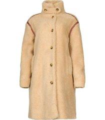 teddy jas met geborduurde details sable  bruin