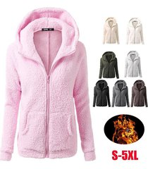 women casual hoodie coat add wool sweatshirts