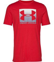 ua boxed sportstyle ss t-shirts short-sleeved röd under armour