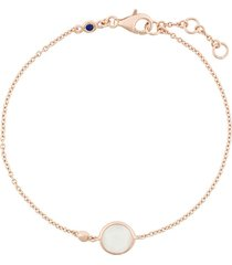 astley clarke mini moonstone round stilla bracelet - metallic