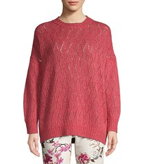 lurex cabled knit pullover