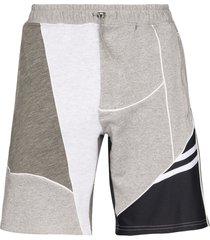 ahluwalia patchwork track shorts - grey