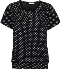 fqbetina-ss-smockie-duto t-shirts & tops short-sleeved svart free/quent
