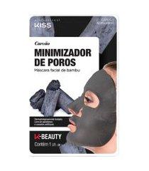 máscara facial de bambu carvão kiss | kiss | 20ml