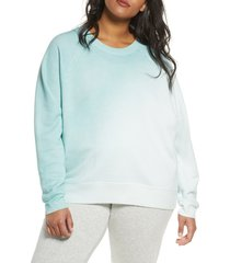 plus size women's zella jamie space dye sweatshirt