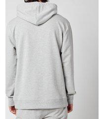 calvin klein men's pullover chest logo hoodie - grey heather - xl