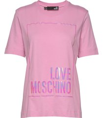 love moschino t-shirt t-shirts & tops short-sleeved rosa love moschino